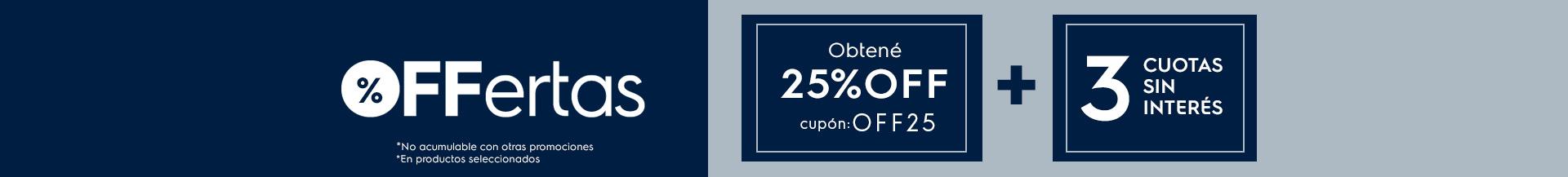 OFFertas 25% - COCINAS
